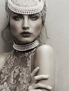 Lace and pearls | Amazing picture.