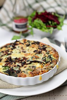 Leftover Squash and Rapini Frittata For Two! - I'll make this but with zucchini instead.