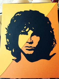 Jim Morrison Cardstock Silhouette by MusicallySilhouetted on Etsy