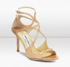 Lambskin Nude Strappy Sandals, Excellent Quality and Beautiful