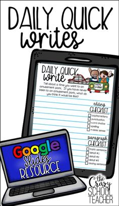 Digital quick writes for distance learning Teaching Technology, Teaching Biology, Teaching Writing, Writing Prompts, Google Classroom, Classroom Ideas, First Grade Writing, Learning Resources, Education