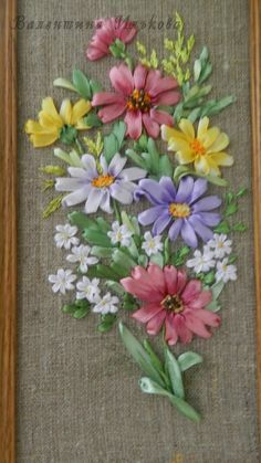 Ribbon Embroidery Flowers by Hand - Embroidery Patterns Ribbon Embroidery Tutorial, Floral Embroidery Patterns, Silk Ribbon Embroidery, Hand Embroidery Designs, Embroidery Kits, Embroidery Stitches, Embroidery Supplies, Machine Embroidery, Ribbon Art