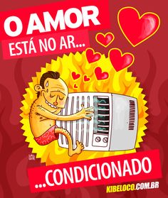 O AMOR ESTÁ NO AR CONDICIONADO! Funny Quotes, Funny Memes, Quote Of The Day, Haha, Cool Stuff, Gabriel, Facebook, Funny Good Night Images, Powerful Quotes