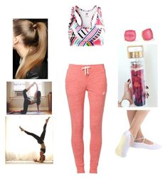 """""""Yoga Class #4"""" by teodoramaria98 ❤ liked on Polyvore featuring NIKE, H&M and Kate Spade"""