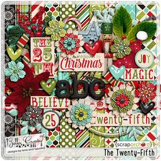 Digital Scrapbook Kit - The Twenty-Fifth by Bella Gypsy Designs $1 from Nov 27 to Dec 2 at the Scrap Orchard Farmers Market