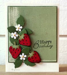 SC389 Strawberries by Biggan - Cards and Paper Crafts at Splitcoaststampers