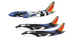 Check out Southwest's newest specialty aircraft to join the SeaWorld-themed fleet! #PenguinOne #seaworld #southwest
