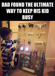 how to keep a kid occupied