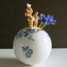 special vase from porcelain. Dutch design