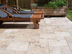 Rustic slab, travertine - stonenaturelle The choice of elegance - sto . Natural Stone Flooring, Outdoor Decor, House Design, Courtyard House, Travertine, Stone Flooring, Backyard Decor, House In The Woods, Patio Tiles
