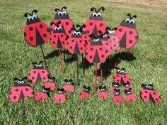 Ladybug Party Centerpiece Picks 3 count by DreamComeTrueParties, $12.00
