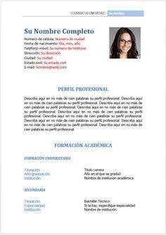 Formato hoja de vida - perfil profesional y datos Resume Cv, Sample Resume, Cv Tips, Hand Lettering Practice, Trigonometry, Resume Templates, Things To Know, Education, Dragon Ball