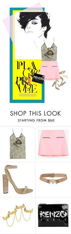 """How to Style a Pink Skirt that Costs Less than $50 from Zara"" by outfitsfortravel ❤ liked on Polyvore featuring Gucci, adidas Originals, Jade Jagger, House of Harlow 1960 and Kenzo"