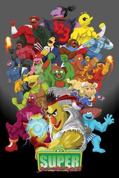 Super Sesame Streetfighter - I'd play that game!