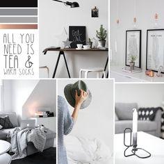 Moodboard #69 — Black, grey & copper | Peek Inside