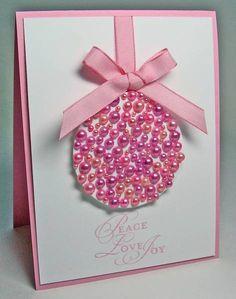 Beautiful ornament card