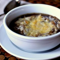a nice spin on french onion soup. delish