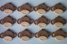 Baby Monkey Cupcake or Cookie Toppers Edible door cookiecovers