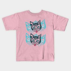 'Mollycat' Kids T-shirt at TeePublic.  #pinkfashion #kids #clothes #fun #tees #teepublic #trendingnow #apparel #kidswear #summer2017 #fashion #children #tshirts2017