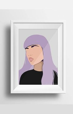 Modern Abstract Minimal Portrait Harlow by Jules