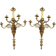 "Unusual pair of Neoclassical gilt bronze desk cock and barometer. CIRCAL 1890's DIMENSIONS: 14.5"" h x 6.5"" w x 7"" d"