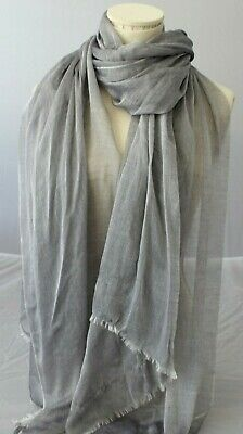 NORDSTROM Women/'s Tissue Weight Wool /& Cashmere Scarf Soft BLACK OS Wrap 99$ NEW