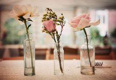 Gorgeous vintage style floral decorations/centrepieces