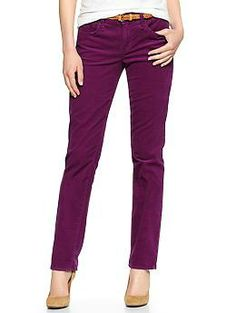 1969 real straight cords | Gap  I would like some jewel tone purple pants.