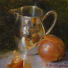 """Silver and Onion"" original fine art by Elena Katsyura"