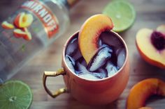 Smirnoff Moscow Mules, served 2 ways! Smirnoff, Non Alcoholic Drinks, Fall Harvest, Moscow Mule Mugs, Fall Recipes, Peach, Pumpkin, Baby Shower, Dinner