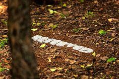 Musha Neluheni, 'RESERVED'. Photo by Peter Steven Primich. #JoziLandArt on 5&6 April 2014 #LandArt https://www.facebook.com/JoburgParks