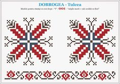 Semne Cusute: modele pentru camasi - DOBROGEA - Tulcea Cross Stitch Borders, Cross Stitch Designs, Cross Stitching, Folk Embroidery, Cross Stitch Embroidery, Embroidery Patterns, Beading Patterns, Cross Stitch Patterns, Diy Broderie