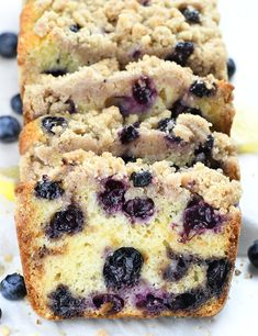 You can enjoy this lemon blueberry bread warm from the oven or cold from a fridge. You can freeze it, too. Whether you eat it as breakfast, snack, or dessert, it is very satisfying. #lemon #blueberry #bread Blueberry Bread Recipe, Lemon Blueberry Muffins, Blue Berry Muffins, Blueberry Recipes, Blueberry Breakfast, Homemade Breakfast, Chocolate Lasagna, Chocolate Desserts, Hot Chocolate