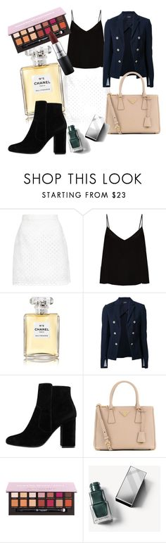 """Style"" by darnelll ❤ liked on Polyvore featuring Carven, Raey, Chanel, Theory, MANGO, Prada, Burberry and MAC Cosmetics"