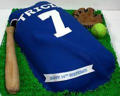 Birthday Cakes New Jersey - Softball Jersey Custom Cakes                                                                                                                                                      More