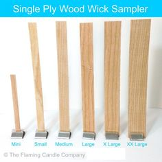 Wooden Wicks - Small - The Flaming Candle Company Wood Wick Candles, Mason Jar Candles, Beeswax Candles, Diy Candles, Diy Candle Wick, Candle Wicks, Candle Craft, Soy Candle Making, Candle Making Supplies