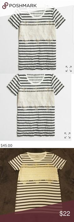 J crew airy tee size xs J crew tee size xsmall. Top is in excellent pre loved condition. No signs of wear of any kind. Willing to accept reasonable offers. Bundle & save! J. Crew Tops