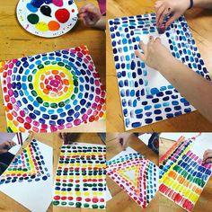 Alma Thomas art with erasers