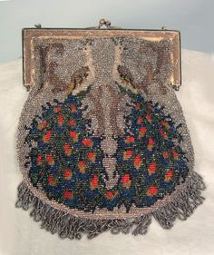 Peacock Beaded Bag, c. 1910