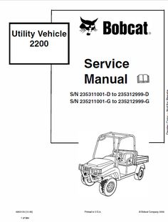 Bobcat 641, 642, 643 Skid-Steer Loader Service Manual