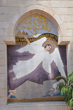 And out of Egypt i called my son, the prophecy of Isaiah fulfilled, angel appearing to Joseph telling him to return to Palestine Angels In Heaven, Heavenly Angels, Catholic Art, Catholic Churches, Angel Images, I Believe In Angels, Occult Art, Egypt Travel, Cairo Egypt