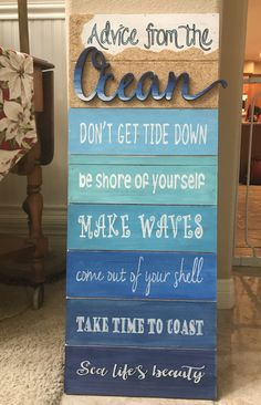 Advice from the ocean...according to me