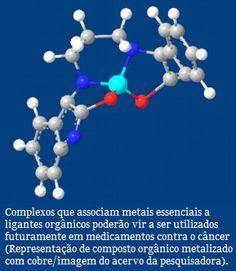 USP produz compostos artificiais com ação antitumoral  No DNA, causam danos oxidativos após se ligarem à sua estrutura. Nas mitocôndrias, as organelas responsáveis pela respiração celular, desacoplam o processo respiratório da síntese da ATP, adenosina trifosfato, o nucleotídeo que armazena a energia das células. O duplo ataque induz a apoptose, morte celular programada, podendo levar à eliminação do tumor