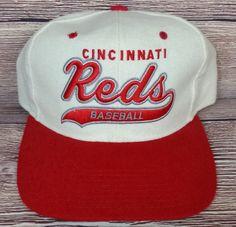 Cincinnati Reds Vintage Snapback Starter Script Hat MLB Wool Rare Cap  Baseball Cincinnati Reds f9824c2a3