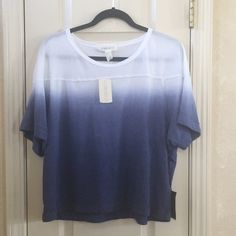 NWT Forever 21 Ombre Top Blue and white ombre top. Forever 21 Tops