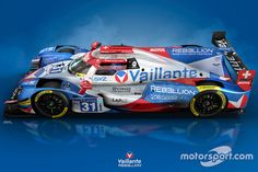 The special Michel Vaillant livery of Rebellion's Oreca for Le Mans unveiled Sports Car Racing, Racing Team, Sport Cars, Race Cars, Motor Sport, Ford Gt, Le Mans 2017, Porsche Gts, Toyota Hybrid