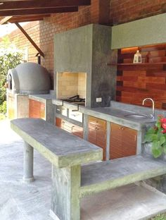 """Acquire terrific ideas on """"outdoor kitchen countertops grill area"""". They are actually offered for you on our web site. Outdoor Kitchen Sink, Outdoor Kitchen Countertops, Backyard Kitchen, Outdoor Kitchen Design, Backyard Patio, Outdoor Kitchens, Outdoor Cooking Area, Outdoor Spaces, Outdoor Living"""