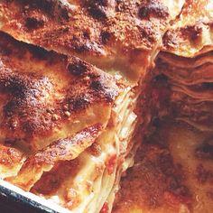 """Gram's"" Lasagne   Mario Batali. Meatball and ricotta lasagna."