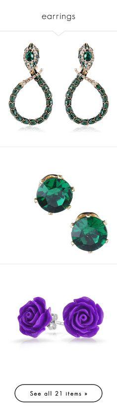"""earrings"" by sarahmullen-yugioh ❤ liked on Polyvore featuring jewelry, earrings, brinco, joias, enamel earrings, snake jewelry, roberto cavalli, snake earrings, swarovski crystal jewelry and jewelry earrings"