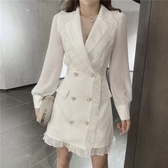 Clueless Outfits, Edgy Outfits, Korean Girl Fashion, Ulzzang Fashion, Dress Skirt, Shirt Dress, Pastel Outfit, Dress Codes, Aesthetic Clothes